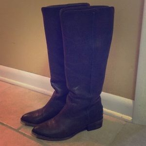 Frye Slate Ray Seam Tall Leather Boots